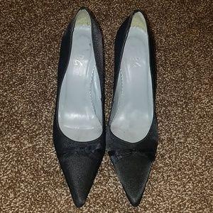 BCBG satin heels